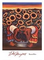 "Dos Mujeres by Simon Silva - 25"" x 34"""