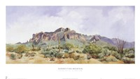 "Superstition Mountain by Charlotte Klingler - 35"" x 20"""