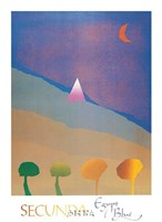 Egypt Blue/One Moon/Four Trees Fine Art Print