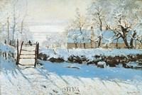 "La Pie, Effet de Neige by Claude Monet - 32"" x 22"""