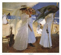 "Under the Awning, Zarauz by Joaquin Sorolla y Bastida - 27"" x 24"""
