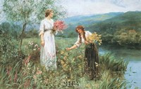 "Gathering Flowers by Henry J. Y. King - 33"" x 22"""
