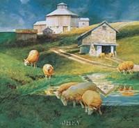 Octagonal Barn, 1988 Fine Art Print