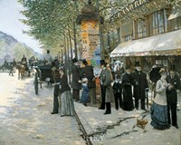 Paris on the Boulevard, 1890 Fine Art Print