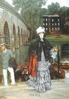 "Return from the Boating Trip, 1873 by James Jacques Joseph Tissot, 1873 - 24"" x 35"""