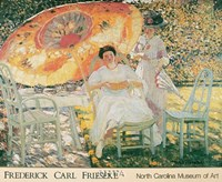 "The Garden Parasol, 1909 by Frederick Carl Frieseke, 1909 - 29"" x 24"""