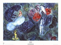 "Le Paradis by Marc Chagall - 33"" x 24"""