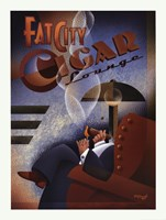 Fat City Cigar Lounge Framed Print