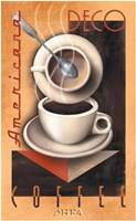 "Americana Deco Coffee by Michael Kungl - 26"" x 40"""