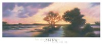 """Late Afternoon Marker by David Wander - 38"""" x 16"""""""