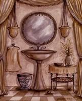 Charming Bathroom IV Framed Print