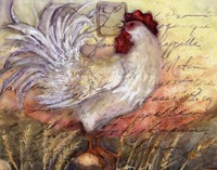 """Le Rooster II by Susan Winget - 14"""" x 11"""""""