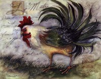 """Le Rooster IV by Susan Winget - 14"""" x 11"""""""