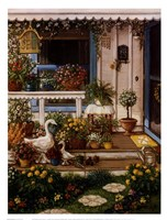 """Spring Front Porch by Janet Kruskamp - 13"""" x 17"""""""
