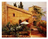 Tuscan Courtyard Fine Art Print