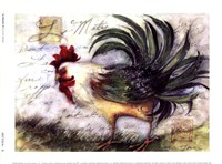 """Le Rooster IV by Susan Winget - 8"""" x 6"""""""