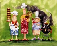 BBQ Chefs II Fine Art Print