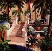 """Hotel Lobby II by Art Fronckowiak - 10"""" x 10"""" - $9.99"""