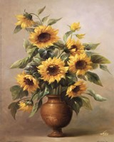 Sunflowers In Bronze I Fine Art Print