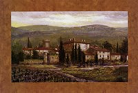 Uzzano with Border Fine Art Print