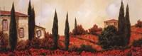 """Tre Casa Tra l Papaveri by Guido Borelli - 10"""" x 4"""""""