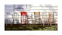 "Chair Collection by Cecile Baird - 28"" x 16"""