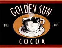 Golden Sun Cocoa Framed Print