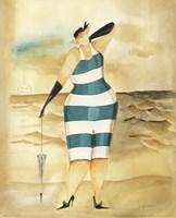 Baigneur de Soleil I (blue stripes) Fine Art Print