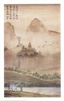 Land of the Pagoda I Fine Art Print