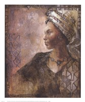 Raffia Robed Lady I Fine Art Print