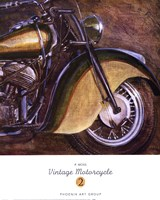 "Vintage Motorcycle 2 by P. Moss - 19"" x 24"""