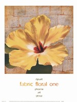 Fabric Floral One Fine Art Print