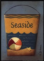 Seaside Bucket Framed Print