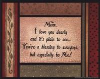 Mom Framed Print