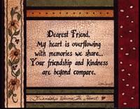 Dearest Friend Framed Print