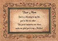 Dear Mom Fine Art Print