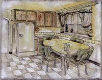 Mid Century Kitchen I (Sm) Fine Art Print