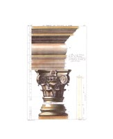 """Temple De Bacchus A Rome by Antoine Desgodetz - 8"""" x 11"""""""