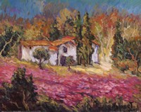 """Vineyards In Provence I by Manfred Kuhnert - 20"""" x 16"""""""