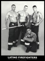Latino Firefighters Fine Art Print