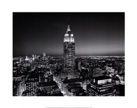 Empire State Building at Night Framed Print