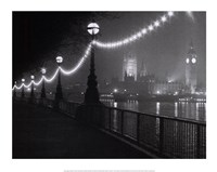 River Thames by Night Fine Art Print