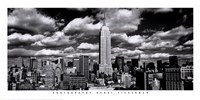 New York, New York, Clouds Over Manhattan Fine Art Print