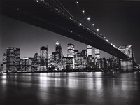 New York, New York, Manhattan Skyline Framed Print