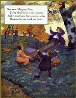 """Seesaw Margery Daw by Mother Goose collection - 13"""" x 17"""""""
