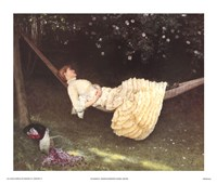 "The Hammock by Edward Killingsworth Johnson - 25"" x 21"""