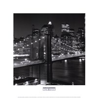 New York, New York, Brooklyn Bridge Fine Art Print
