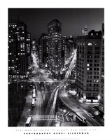 New York, New York, Flatiron Building at Night Fine Art Print