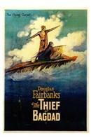 "The Thief of Bagdad Flying Carpet by Henri Silberman - 11"" x 17"", FulcrumGallery.com brand"