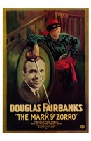 The Mark of Zorro Douglas Fairbanks Wall Poster